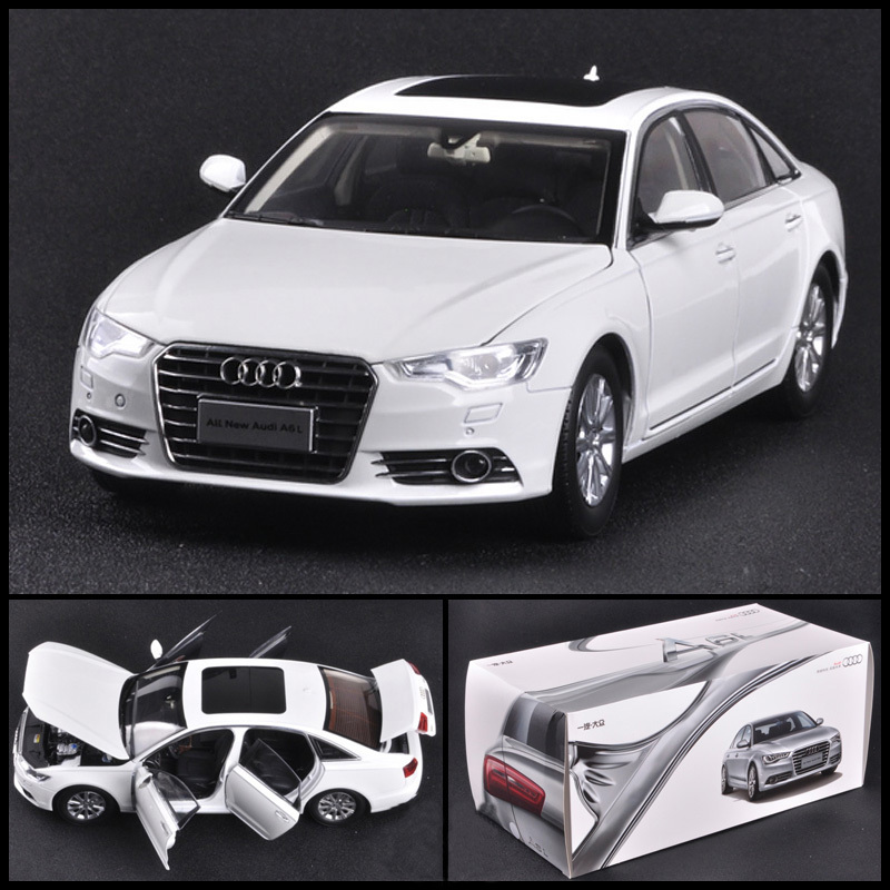 1/18 Scale Audi A6L Diecast Car Model Toy Black Collection For Kids Gift Original Box Free Shipping