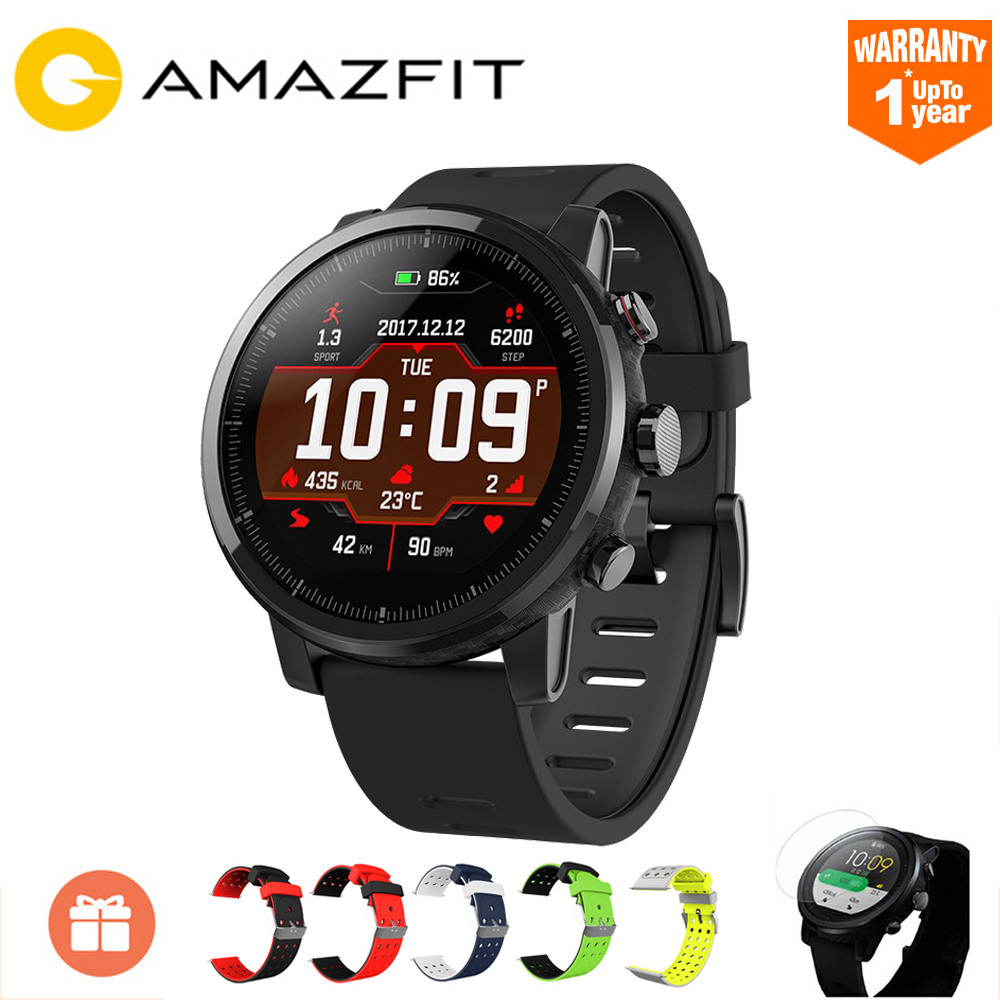 Xiaomi Huami AMAZFIT Stratos GPS 5ATM Étanche Intelligent Montre de Sport 2 [Anglais Version] Firstbeat De Natation 512 mb/ 4 gb Smartwatch