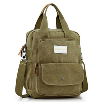 Vintage Canvas Solid Bag Casual Shoulder Bags For Men Crossbody Shool Mens Messenger Bags Women Backpacks
