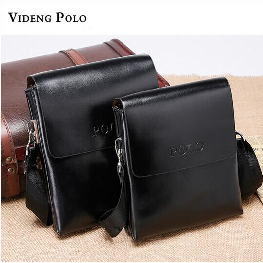 2017 New Fashion PU Leather Videng Polo Leisure Men Messenger Bag Male Shoulder Briefcases Bags Crossbody Bags M273