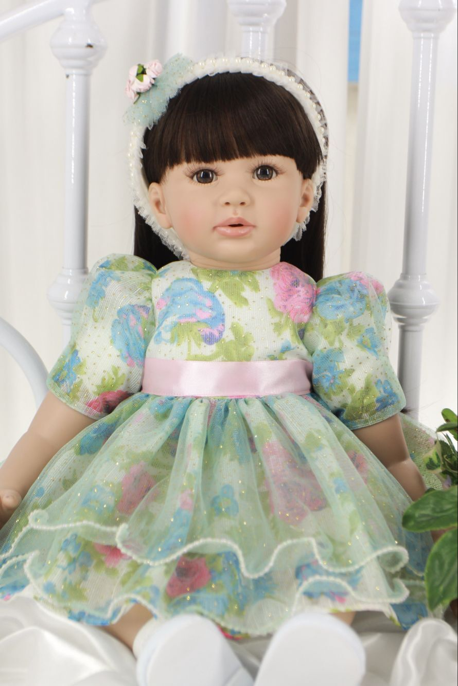 60cm Silicone Reborn Baby Doll Toys Cloth Body 24inch Vinyl Princess Toddler Girls Babies Dolls Kids Birthday Gift Alive Bebe купить