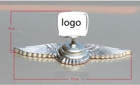 3D Zinc Alloy Luxury Stand eagle wings Car refiting Decoration logo Hood emblem for Honda