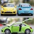 Volkswagen beetle 1:32 modelo de simulación de los niños juguete de la aleación diecast cars cars con luz y sonido de metal regalo de cumpleaños para niño
