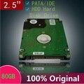 "10 pçs/lote Um ++++ 2.5 ""HDD IDE PATA 80 GB 5400 rpm disco rígido ide 2.5 hdd Hard Disk Drive HDD para notebook laptop velho Livre grátis"