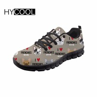 689a3bb66 HYCOOL French Bulldog Printed Female Sneakers Outdoor Lightweight Breath  Women S Running Shoes For Young Girls