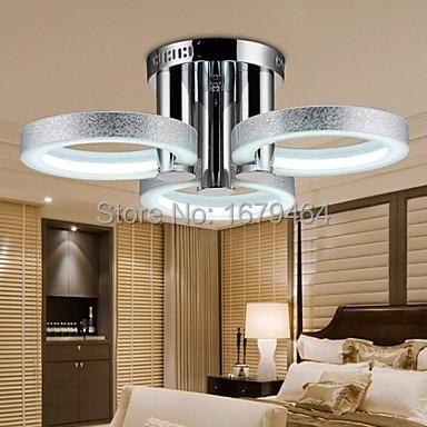 Haute qualité LED plafonnier LED moderne argent 3 lumières 54 W argent livraison gratuite 110-240 V 63*63*20 CM vente directe d'usine