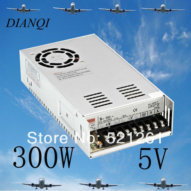 S-300-5 power suply 5v 300w ac to dc power supply ac dc converter switch adjustable output voltage cps 6011 60v 11a digital adjustable dc power supply laboratory power supply cps6011