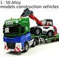 El envío gratuito! 1: 50 de aleación de modelos de vehículos de construcción de juguete de diapositivas, góndola con cuatro cargadora de ruedas modelo, juguetes Para Niños favorito