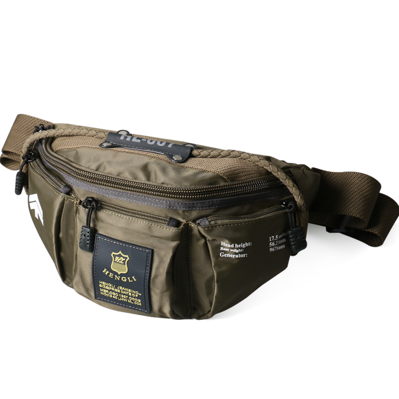 Ruil Oxford Cloth Waist Bag Men's Fashion Multi-functional Pockets Leisure Travel Phone Bag Toolkit Vintage Package