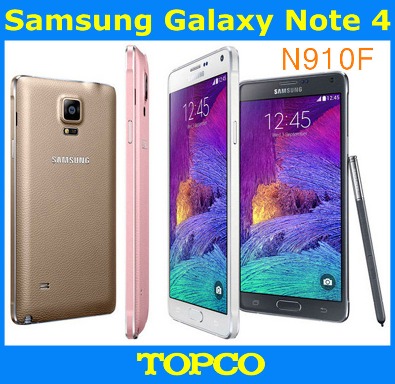 Samsung Galaxy Note-4 N910F 32GB GSM/WCDMA/LTE Nfc Adaptive Fast Charge Quad Core Fingerprint Recognition