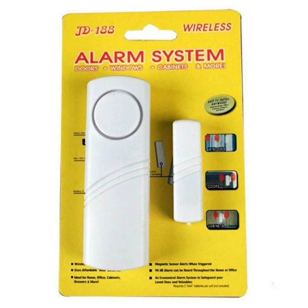 Wireless Door Window Burglar Alarm With Magnetic Sensor Door Entry Anti Theft New Home Wireless Window/Door Entry Security self adhesive wireless magnetic sensor home door window entry burglar security alarm safety guardian protector system white new