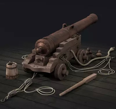 Scale 1 24 classics Russian ship cannon model kit 100mm brass foundry carving guns barbette wooden