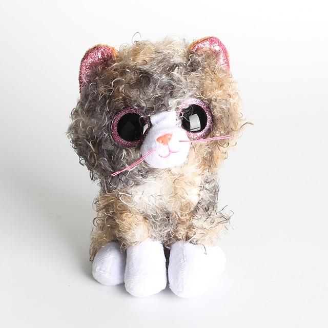 """Ty Vaias Gorro Desconexo O Crespo Cabelo Gato De Pelúcia Boneca Animais Presente da Criança Brinquedo 6 """"15 centímetros"""
