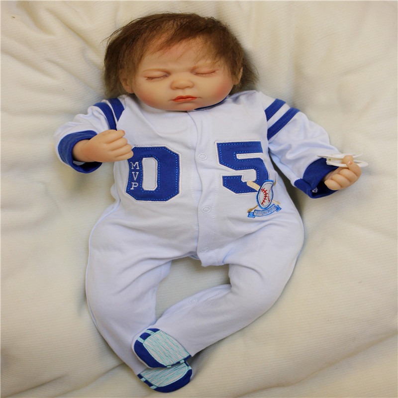 SanyDoll 20 inch 50cm  baby reborn Silicone dolls, Lovely clothes sleeping doll holiday giftsSanyDoll 20 inch 50cm  baby reborn Silicone dolls, Lovely clothes sleeping doll holiday gifts