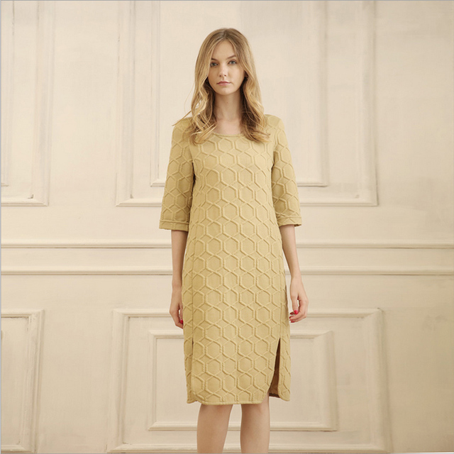 Touching Me autumn and winter new home clothes Ms. Europe and the United States can wear a large jacquard can wear a home dress