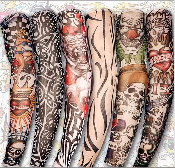 New hot driving sunscreen arm tatoo sleeve man & woman cool cycling temporary flash tattoo Stretchy scorpion fake tattoo sleeves 5