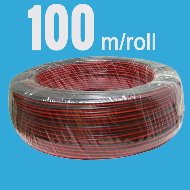 Aliexpress.com : Buy 100M Electronic Wire 2PIN LED Wire Cable Red ...