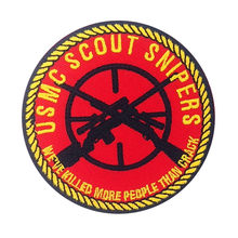 USMC SCOUT CECCHINI Patch Iron on Ricamato vestiti di Patch per abbigliamento FAI DA TE Distintivi e Simboli Adesivi Appliques Indumento(China)