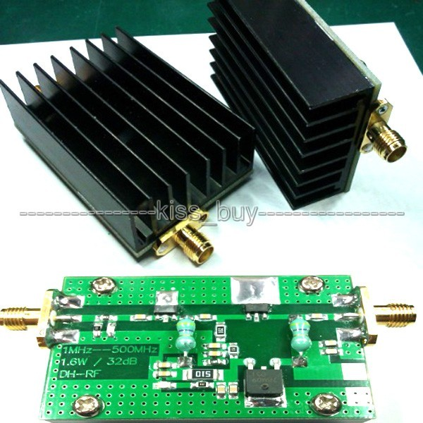 1MHz-700MHZ 3.2W HF VHF UHF FM transmitter RF Power Amplifier For Ham Radio + Heatsink