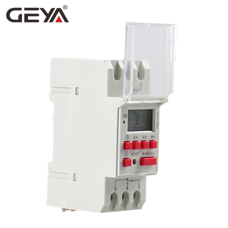 GEYA THC-30A Electric Digital Timer Switch Programmable Din Rail 30A Timer Timer AC DC 12V 24V 110V 220V 240V