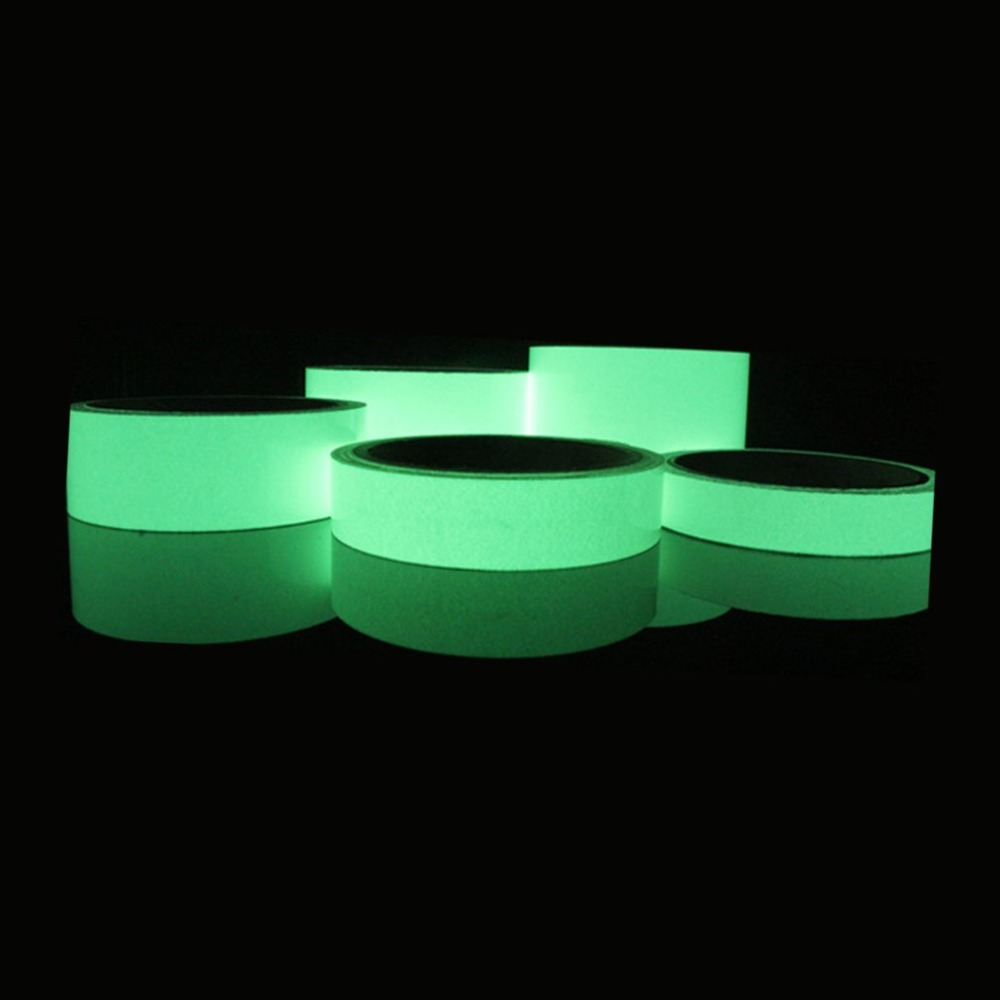 Green Glow Tape Safety Sticker Removable Luminous Tape Fluorescent Self-adhesive Sticker Glowing Dark Striking Warning Tape