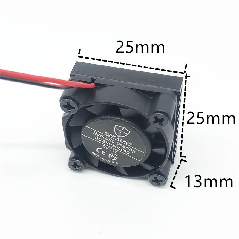 2507 25 мм 25x25x13 мм гидравлический подшипник охлаждающий вентилятор для графической карты с радиатором DC 5 в 12 В 24 вм.2 SSD вентилятор с 2 контактам...