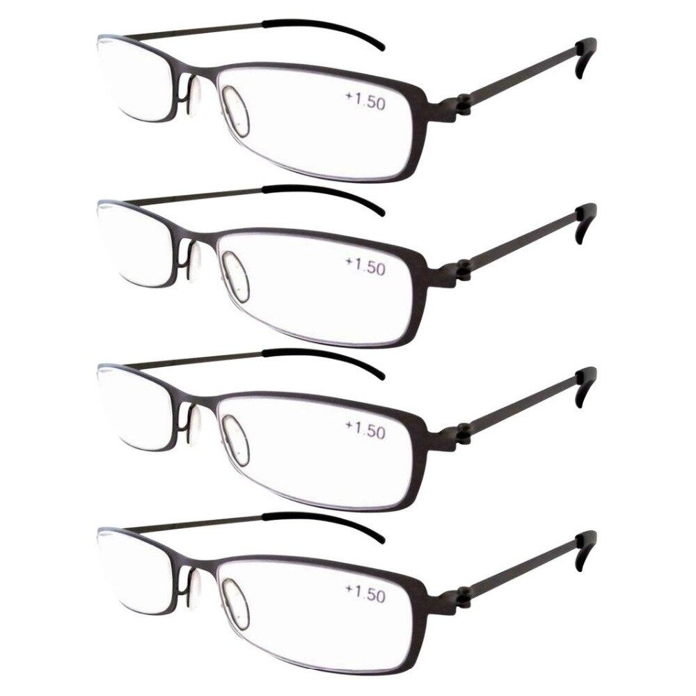 Pares de Eyekepper R12019 Aço Inoxidável Quadro de Leitura Óculos Gunmetal  + 1.0 1.25 1.50 1.75 2.0 2.25 2.5 2.75 3.0 3.5 4.0 a3d94abb65
