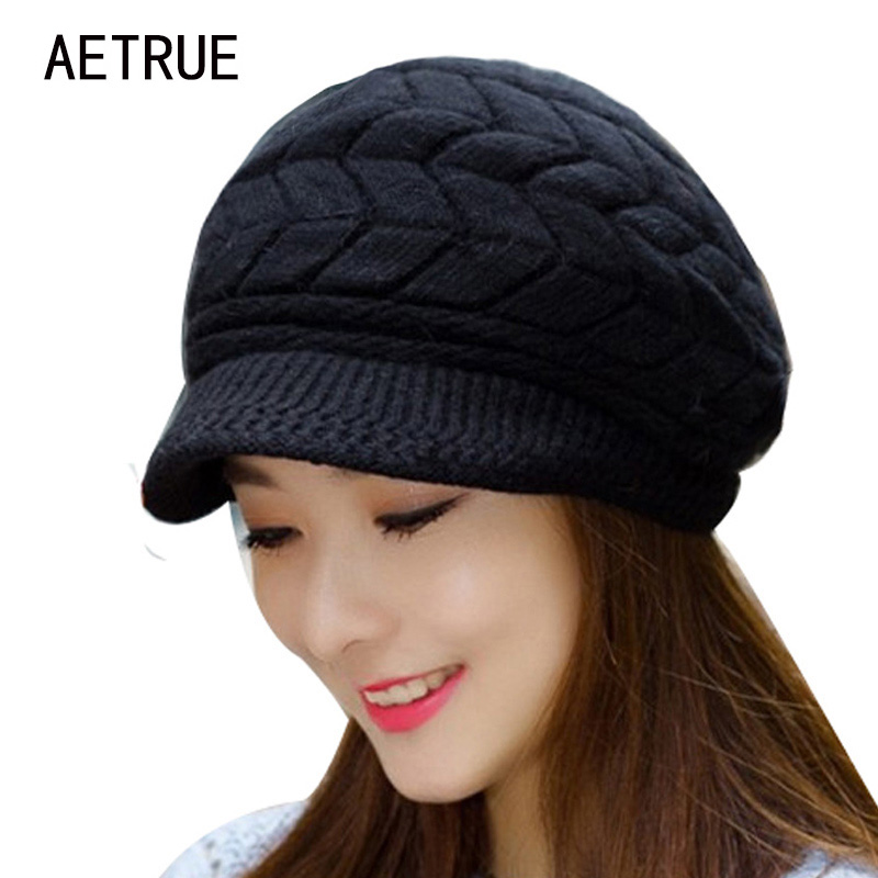 Gorros de invierno sombrero de punto de las mujeres sombreros de invierno para las mujeres señoras Beanie Girls Skullies Caps Bonnet Femme Snapback lana caliente sombrero 2018