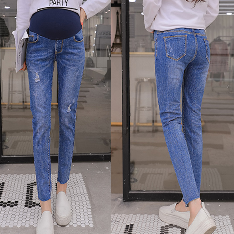 Mom Denim Overall Trousers Grossesse Women Jeans Pregnant Pencil Prop Pants Clothing For Maternity Clothes Plus Size Pant 2017 jeans for women new thin slim trousers pencil pants high waist small jeans plus size xl 5xl fashion vintage blue jeans