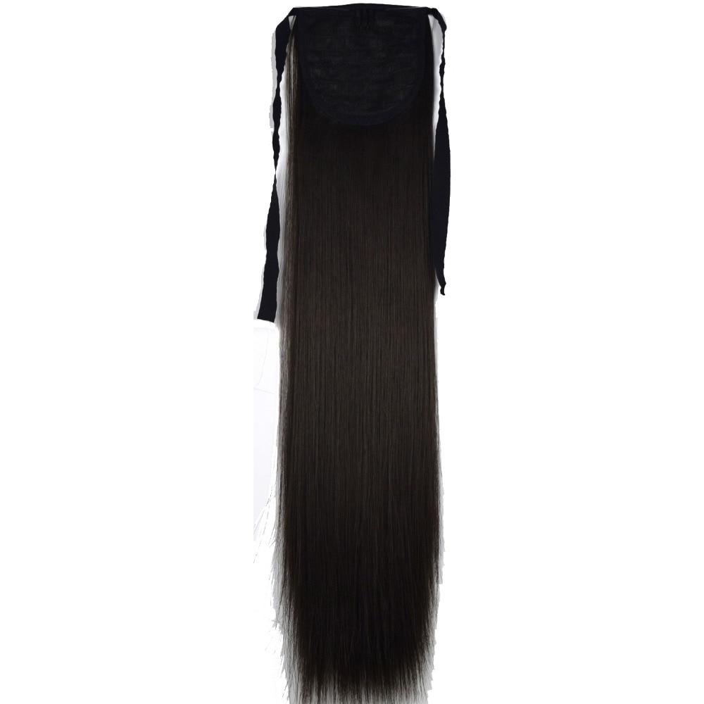 TOPREETY Heat Resistant B5 Synthetic Hair Fiber Straight Ribbon Ponytail Hair Extension 1006