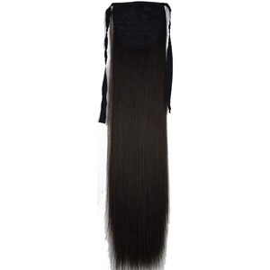 TOPREETY Heat Resistant B5 Synthetic Hair Fiber Straight Ribbon Ponytail Hair Extension 1006(China)