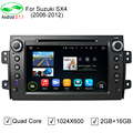 ROM 16G 1024*600 Quad Core Android 5.1.1 Fit SUZUKI SX4 2006- 2008 2009 2010 2011 2012 Car DVD Player Navigation GPS TV 4G Radio