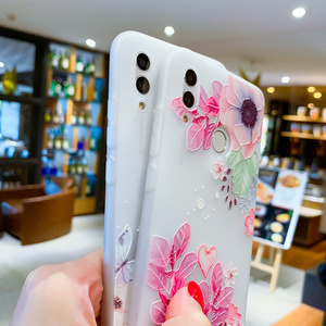 Image 5 - EIRMEON para Huawei P Smart 2019 3D alivio fundas florales para Huawei Mate 10 Mate 20 Pro Honor 10 Lite esmerilado TPU cubierta del teléfono