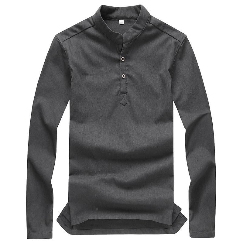 Long Sleeve Casual Mens Tee Shirt Man