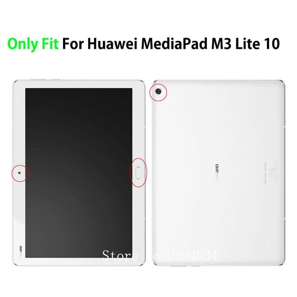 GRATIS Stylus Touch Pen Lobwerk Cover f/ür Huawei M3 Lite 10.0 Zoll Ultra Slim Cover transparentes Hardcase aufstellbar und Wake /& Sleep Funktion