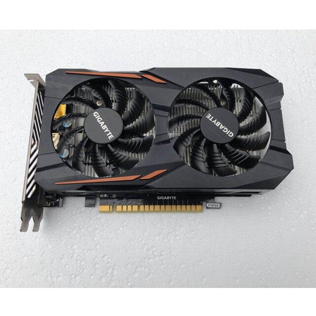 GIGABYTE Original GPU GTX 1050 2GB Video Card 128Bit GP107-300 Graphics Cards For NVIDIA Map Geforce GTX1050 2GB VGA HDMI PCI-E 5