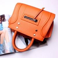 New 2016 Fashion Brand Genuine leather Women Handbag Europe and America Leather Shoulder Bag Casual Women Bag
