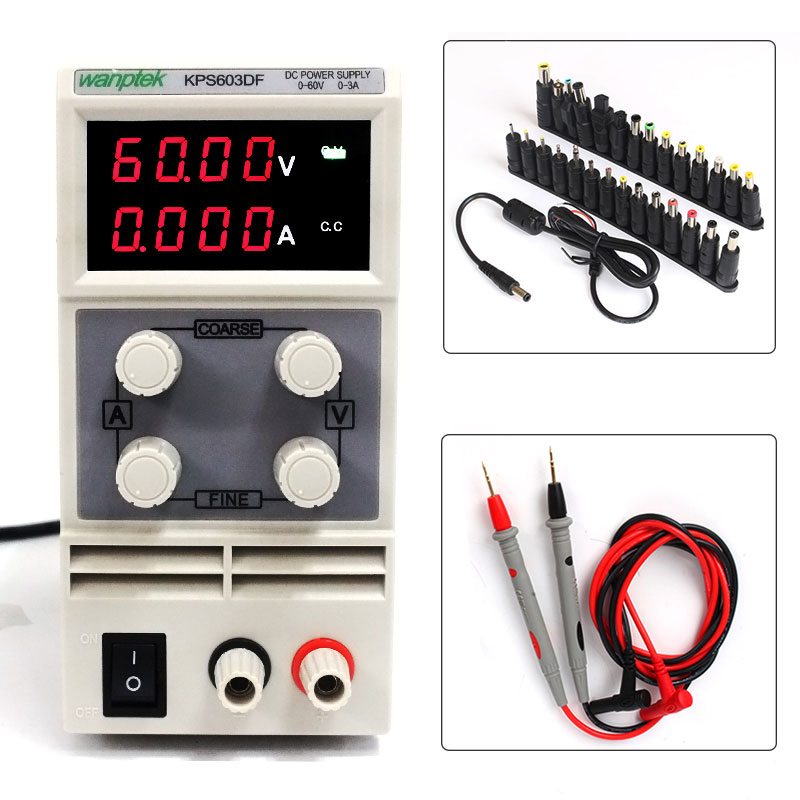 Laboratory maintenance equipmen 60V 0-3A DC power supply   high-precision adjustable regulated DC Power Supply Phone Repair kuaiqu high precision adjustable digital dc power supply 60v 5a for for mobile phone repair laboratory equipment maintenance