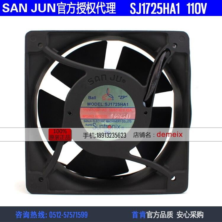 NEW Suntronix SAN JUN SANJUN SJ1725HA1 110V 0.45A 15050  ball bearing cooling fanNEW Suntronix SAN JUN SANJUN SJ1725HA1 110V 0.45A 15050  ball bearing cooling fan