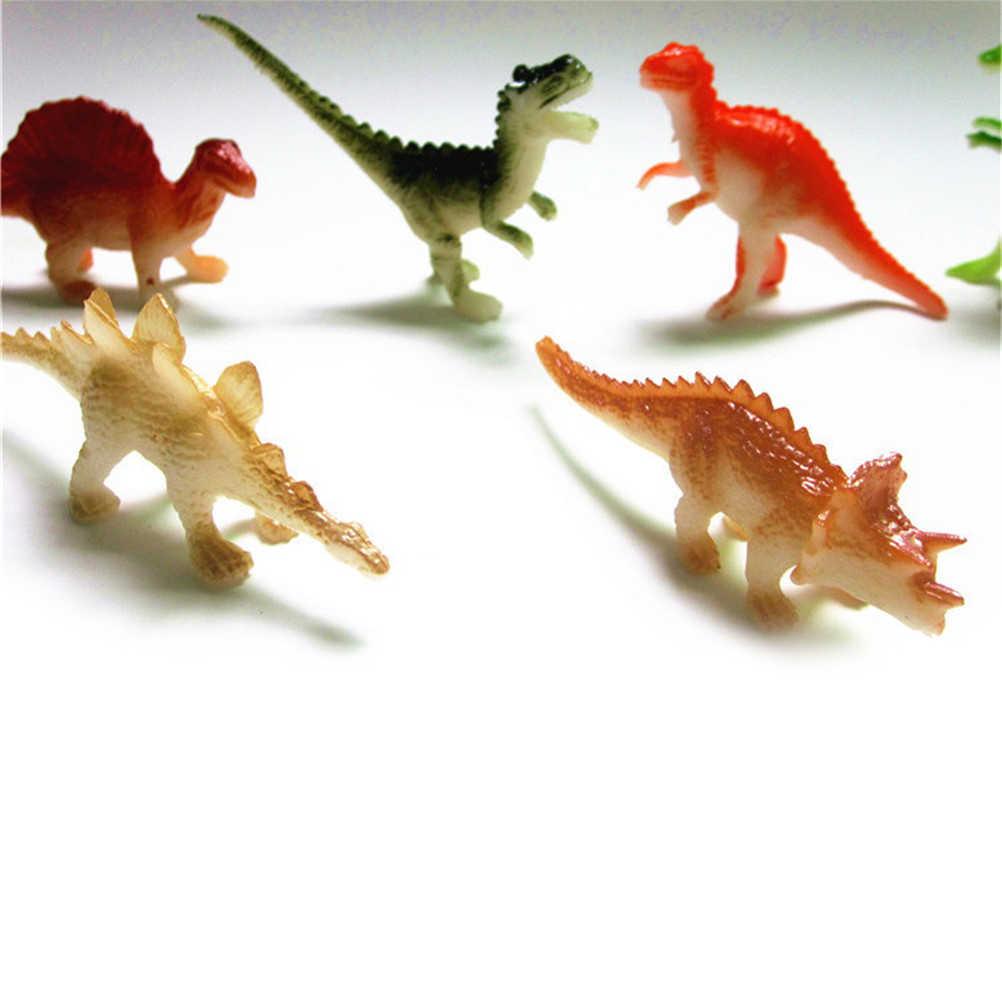 8 Pcs/lot Hobi Anak Mini Plastik Kecil Dinosaurus Angka Dinosaurus Model Hewan Lucu Hadiah Anak Laki-laki Mainan
