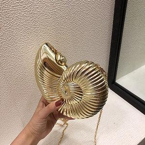 Image 5 - スタイルのバッグ女性のかわいいショルダーバッグコンク形状チェーンクロスボディバッグアクリルシェル電話バッグハンドバッグ財布女性のための