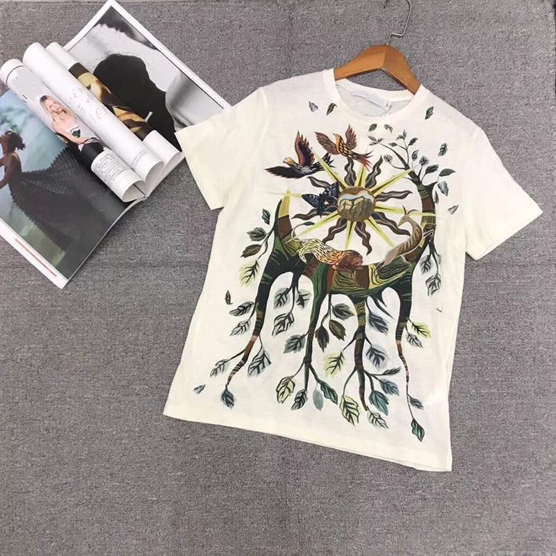 Women s T Shirt new High quality100 Cotton Print Fashion Short Sleeve Round Neck T Shirt