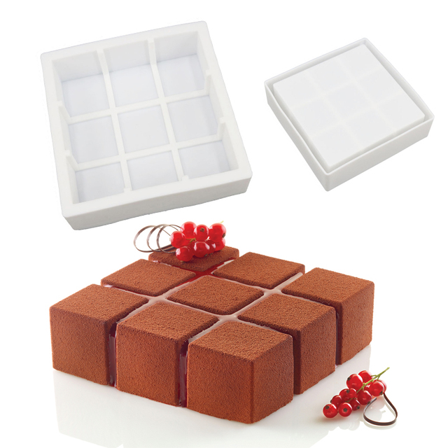 Aliexpress.com : Buy White Silicone Cube Squared Up Shaped Mousse ...