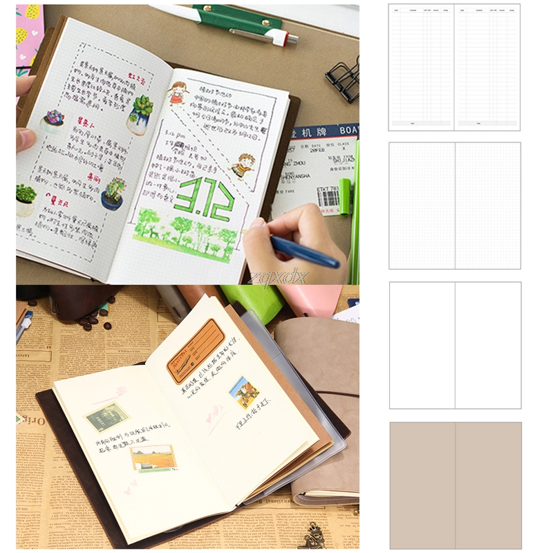 Kraft Paper Notebook Account Book Dot Journal Diary Memo Blank Page Stationery Z11 Drop ship