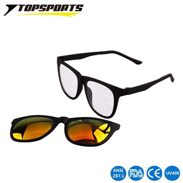 bffb1cbd823 TOPSPORTS Men Polarized Magnetic Clip on Glasses Driving Sunglasses Magnet  Sports Myopia women Eyewear prescription frame