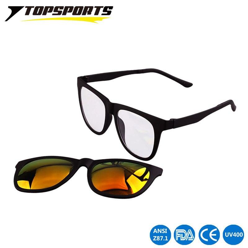 009632c32 Topsports الرجال المغناطيسي كليب على النظارات المستقطبة القيادة المغناطيس  الرياضة قصر النظر المرأة النظارات الطبية الإطار
