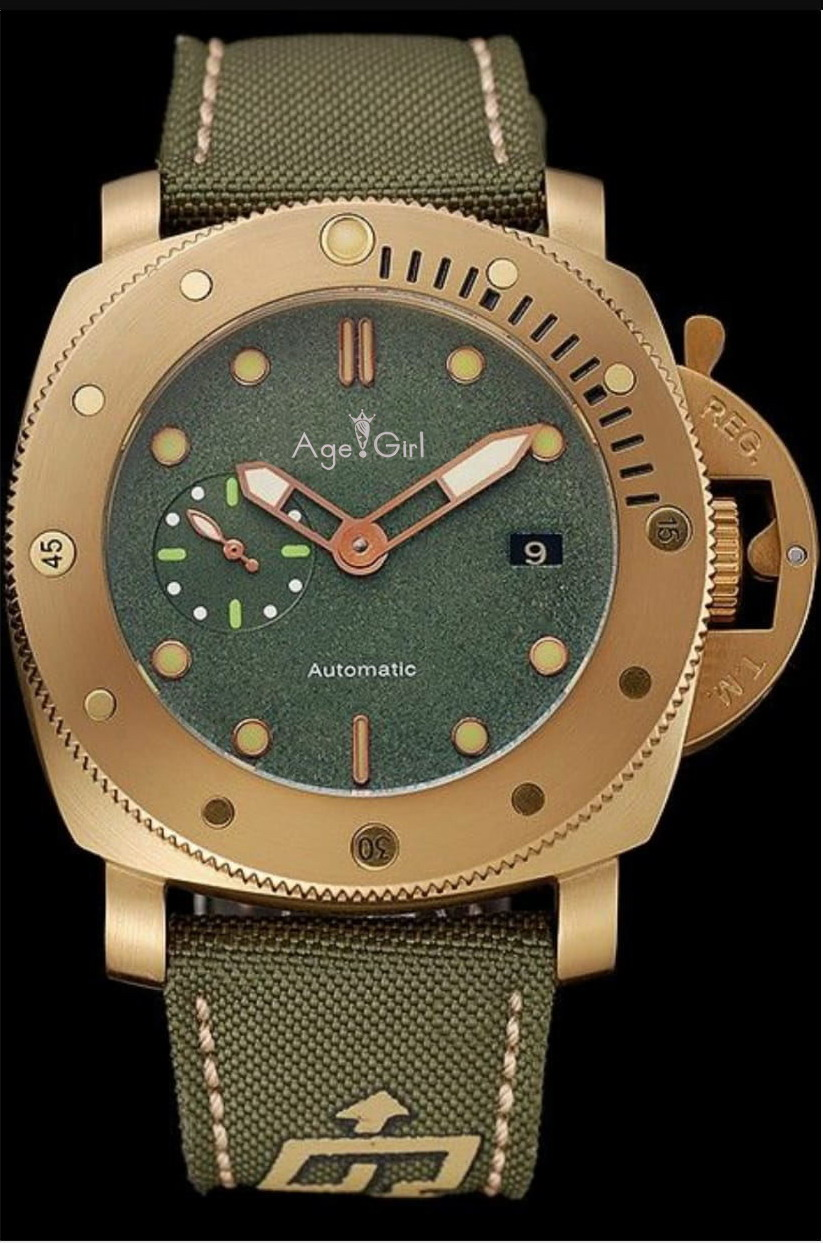 Luxury Brand New Men Automatic Mechanical Sapphire Stainless Steel GMT Watches Green Canvas Leather Luminous 3 Days Yellow GoldLuxury Brand New Men Automatic Mechanical Sapphire Stainless Steel GMT Watches Green Canvas Leather Luminous 3 Days Yellow Gold
