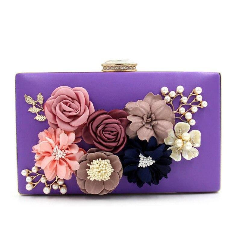 100% Handmade Evening Bags,Elegant Flower Clutch bag ,diamond pearls party bag purse handbag clutches bags free shipping