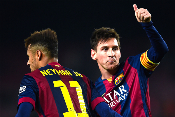 Neymar JR Poster Messi Wall Sticker Soccer Ball Wallpaper ...