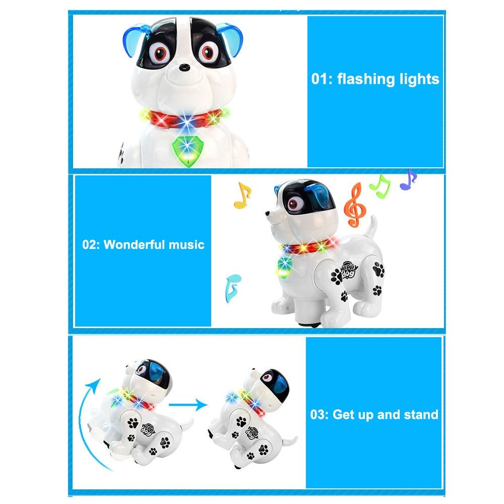 Милая имитация игрушки для собак пластиковая эмультационная игрушечная электронная собака для новеллы Прямая